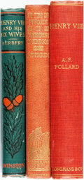 Books:Biography & Memoir, [British History]. Trio of Titles Related to Henry VIII and HisWives. Various publishers and dates, circa 1900. ... (Total: 3Items)