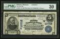 National Bank Notes:Montana, Hobson, MT - $5 1902 Plain Back Fr. 605 The First NB Ch. # (W)10715. ...