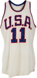 Basketball Collectibles:Uniforms, 1960 Jerry Lucas Game Worn USA Olympic Basketball Team Jersey....