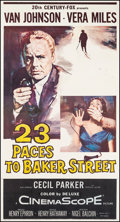 "Movie Posters:Mystery, 23 Paces to Baker Street & Other Lot (20th Century Fox, 1956).Three Sheets (2) (41"" X 77.5"", 41.5"" X 78.75""). Mystery.. ...(Total: 2 Items)"