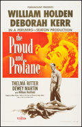 """Movie Posters:War, The Proud and Profane (Paramount, 1956). One Sheet (26.5"""" X41.25""""). War.. ..."""