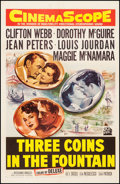 "Movie Posters:Romance, Three Coins in the Fountain (20th Century Fox, 1954). One Sheet (26.75"" X 41.25""). Romance.. ..."