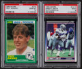 Football Cards:Lots, 1989-90 Score Football PSA Graded Troy Aikman and Emmitt Smith Rookie Duo (2).. ...