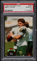 Football Cards:Singles (1970-Now), 1992 Stadium Club Brett Favre #683 PSA Gem Mint 10....