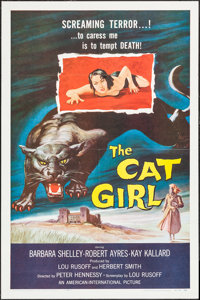"The Cat Girl (American International, 1957). One Sheet (27"" X 41""). Horror"
