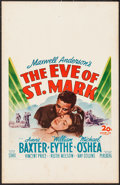 "Movie Posters:War, The Eve of St. Mark (20th Century Fox, 1944). Window Card (14"" X22""). War.. ..."