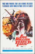 "Movie Posters:Science Fiction, Five Million Years to Earth (20th Century Fox, 1967). One Sheet (27"" X 41""). Science Fiction.. ..."