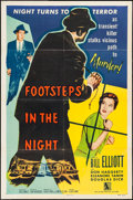 """Movie Posters:Mystery, Footsteps in the Night (Allied Artists, 1957). One Sheet (27"""" X41""""). Mystery.. ..."""