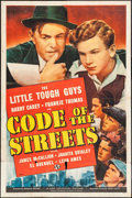 "Movie Posters:Crime, Code of the Streets (Universal, 1939). One Sheet (27"" X 41"").Crime.. ..."
