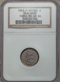 Civil War Patriotics, 1863 Liberty/Our Army Civil War Token MS63 Brown NGC.Fuld-45/332...