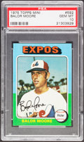 Baseball Cards:Singles (1970-Now), 1975 Topps Mini Balor Moore #592 PSA Gem Mint 10....