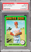 Baseball Cards:Singles (1970-Now), 1975 Topps Mini Skip Pitlock #579 PSA Gem Mint 10....