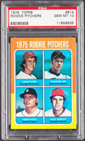 Baseball Cards:Singles (1970-Now), 1975 Topps Rookie Pitchers #614 PSA Gem Mint 10....