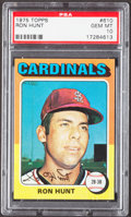 Baseball Cards:Singles (1970-Now), 1975 Topps Ron Hunt #610 PSA Gem Mint 10....