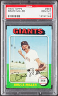 Baseball Cards:Singles (1970-Now), 1975 Topps Bruce Miller #606 PSA Gem Mint 10 - Pop Three....