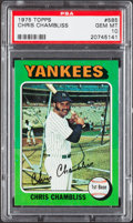 Baseball Cards:Singles (1970-Now), 1975 Topps Chris Chambliss #585 PSA Gem Mint 10....