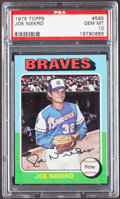Baseball Cards:Singles (1970-Now), 1975 Topps Joe Niekro #595 PSA Gem Mint 10 - Pop Four....