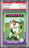 Baseball Cards:Singles (1970-Now), 1975 Topps Bruce Kison #598 PSA Gem Mint 10....
