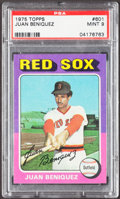 Baseball Cards:Singles (1970-Now), 1975 Topps Juan Beniquez #601 PSA Mint 9....
