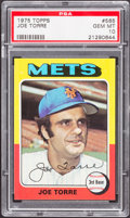 Baseball Cards:Singles (1970-Now), 1975 Topps Joe Torre #565 PSA Gem Mint 10 - Pop Two....