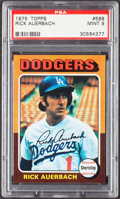 Baseball Cards:Singles (1970-Now), 1975 Topps Rick Auerbach #588 PSA Mint 9....