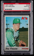 Baseball Cards:Singles (1970-Now), 1970 Topps Lew Krausse #233 PSA Gem Mint 10 - Pop Three....