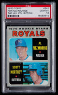 Baseball Cards:Singles (1970-Now), 1970 Topps Royals Rookies #241 PSA Gem Mint 10 - Pop One....