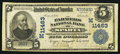 National Bank Notes:Wisconsin, Sparta, WI - $5 1902 Plain Back Fr. 606 The Farmers NB Ch. # (M)11463. ...