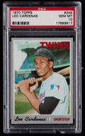 Baseball Cards:Singles (1970-Now), 1970 Topps Leo Cardenas #245 PSA Gem Mint 10 - Pop Three....