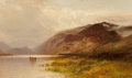Fine Art - Painting, American, Arthur Parton (American, 1842-1914). Lake Landscape, 1879.Oil on board. 18-1/2 x 31 inches (47.0 x 78.7 cm). Signed and...
