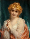 Fine Art - Painting, European:Antique  (Pre 1900), Etienne Adolphe Piot (French, 1850-1910). A Golden-hairedBeauty. Oil on canvas. 26 x 20 inches (66.0 x 50.8 cm).Signed...