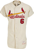 Baseball Collectibles:Uniforms, 1962 Stan Musial Game Worn St. Louis Cardinals Jersey, MEARS A10....
