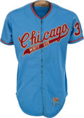 Baseball Collectibles:Uniforms, 1972 Eddie Fisher Game Worn Chicago White Sox Jersey & Pants. ...