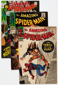 The Amazing Spider-Man Group of 61 (Marvel, 1966-75) Condition: Average VG/FN.... (Total: 61 Comic Books)