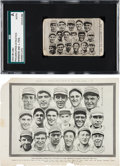 Baseball Cards:Singles (Pre-1930), 1915 W-Unc Philadelphia Athletics, Team Composite SGC Authentic Plus Matching Police Gazette Supplement. ...