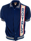 Basketball Collectibles:Others, 1960's Oscar Robertson Game Worn Cincinnati Royals Shooting Jacket - Personal Gift from the Big O. ...