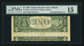 Error Notes:Inverted Reverses, Fr. 1921-F $1 1995 Federal Reserve Note. PMG Choice Fine 15.. ...
