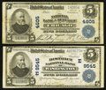 National Bank Notes:District of Columbia, Washington, DC - $5 1902 Plain Back Fr. 600 The District NB Ch. # (E)9545;. Chicago, IL - $5 1902 Plain Back 602 N... (Total: 2 notes)