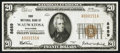 National Bank Notes:Wisconsin, Wauwatosa, WI - $20 1929 Ty. 1 First NB Ch. # 8689. ...