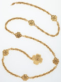 "Luxury Accessories:Accessories, Chanel Gold Four Leaf Clover Chain Belt . Very Good to ExcellentCondition . 36"" Length . ..."