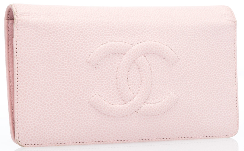 f7db0d0f Chanel Pink Caviar Leather CC Bifold Wallet . Good to Very | Lot ...