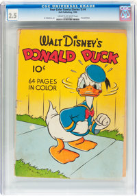 Four Color (Series One) #4 Donald Duck (Dell, 1940) CGC GD+ 2.5 Cream to off-white pages