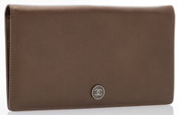"""Chanel Bronze Leather Long CC Bifold Wallet Very Good to Excellent Condition 7"""" Width x 4"""" Heig"""