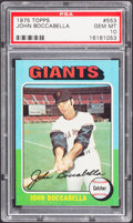 Baseball Cards:Singles (1970-Now), 1975 Topps John Boccabella #553 PSA Gem Mint 10 - Pop Three....
