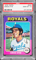 Baseball Cards:Singles (1970-Now), 1975 Topps Amos Otis #520 PSA Gem Mint 10 - Pop Three....