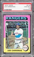 Baseball Cards:Singles (1970-Now), 1975 Topps Leo Cardenas #518 PSA Gem Mint 10 - Pop Four....