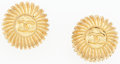 "Luxury Accessories:Accessories, Chanel Gold Round CC Logo Earrings . Very Good to ExcellentCondition . 1"" Width x 1"" Length . ..."