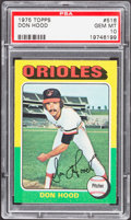 Baseball Cards:Singles (1970-Now), 1975 Topps Don Hood #516 PSA Gem Mint 10....