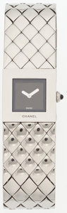 "Luxury Accessories:Accessories, Chanel Stainless Steel Matalesse Watch . Very Good Condition. .75"" Width x 7.5"" Length . ..."