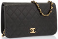 "Luxury Accessories:Bags, Chanel Black Quilted Lambskin Leather Small Single Flap Bag withGold Hardware. Good to Very Good Condition. 9.5""Widt..."
